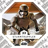 Rewe STAR WARS Cosmic Shells Normal 33 Sturmtruppler + WIZUALS STICKER