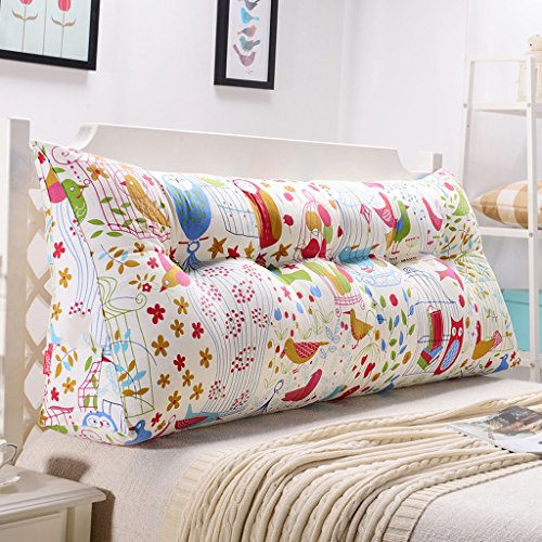 uus Alto-elastico Pearl Cotton Design ergonomico Triangolo cuscino del divano letto Cuscino removibile lavabile in cotone copertura 3D morbido ripieno E Uccelli comodi modello ( dimensioni : 135cm (4 Buttons) ) - Button Uccello