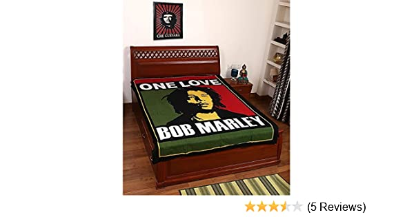 Beautiful Bob Marley Print 100 Cotton Bed Cover Tapestry Bed