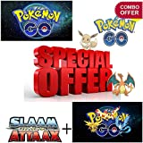 #10: Combo - Pokemon Go cards (15 packs) + Cricket Attack Cards (10packs) MEGA PACK OFFER! Smart option to buy playing Pokemon And Slaam Attack cards for kids(non licensed)