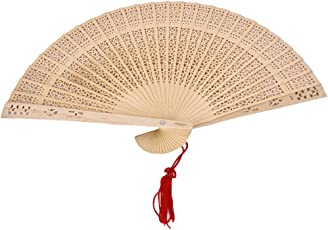 Generic Chinese Japanese Sandalwood Hand Fan Wooden Scented for Wedding Party Gift