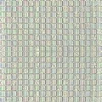 10 cm x 10 cm modelo. Perla de vidrio blanco brillante iridiscente mosaico (MT0095 modelo)