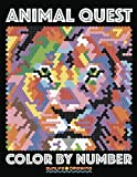 ANIMAL QUEST Color by Number: Activity Puzzle Coloring Book for Adults Relaxation & Stress Relief: Volume 1 (Quest Coloring Books)