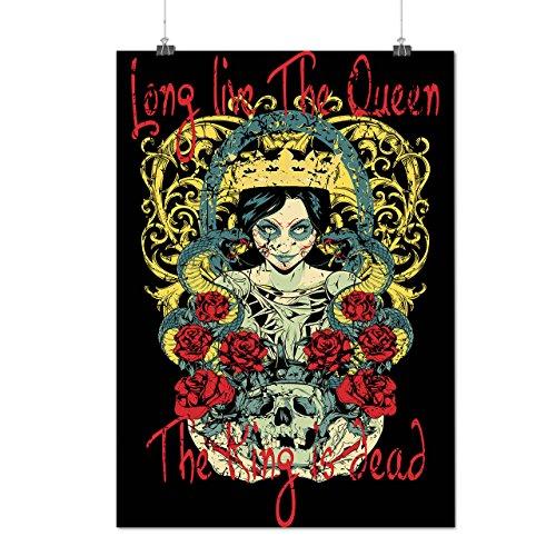 Leben Königin König Tot Böse Tot Mattes/Glänzende Plakat A3 (42cm x 30cm) | (Königin Des Waldes Kostüm)