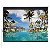 #4: Luzon Dzire Motorised Projector Screen 11 X 7 feet In Imported Matte White Fabric (Aspect Ratio 16 : 10)