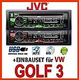 VW Golf 3 / Vento - JVC KD-R469E - CD/MP3/USB Autoradio - Einbauset