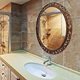 JFFFFWI Miroir de Salle de Bains American Country Européen Grande Entrée Ovale...
