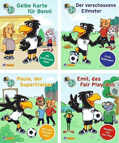 Nelson Mini-Bücher: 4er DFB-Maskottchen Paule (Maskottchen Charakter)
