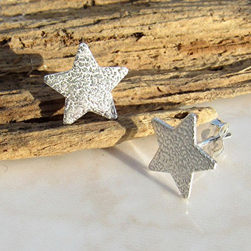 silver-stud-medium-star-textured-sterling-earrings-gift-wrapped-post-earings-for-her-birthday-congra