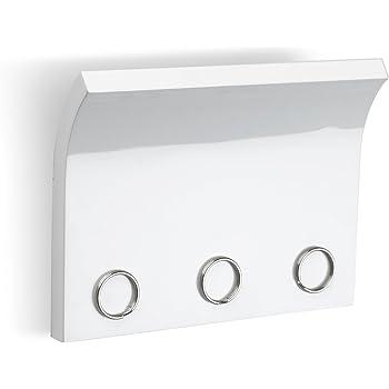 d89831ad2e11 Porte-clefs mural Magnetter, en bois laqué blanc, aimante les clés.  Dimension 20.3x15.2x1.3cm.