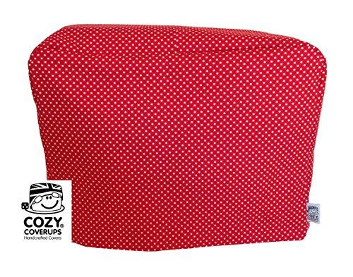 cozycoverup für Kenwood Patissier Mixer aus Bezug rot Spot Muster, 100% Baumwolle, handgefertigt in der UK und komplett gefüttert