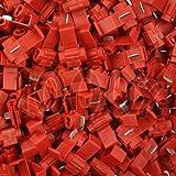 1000 Stück Abzweigverbinder / Schnellverbinder / Stromdieb rot 0,5 - 0,75 qmm