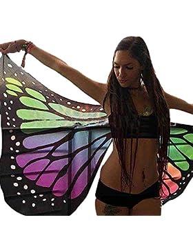 Blusión de Bikini en Forma de Mariposa Playa Gasas Camisas para Mujer