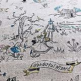 Baumwoll-Leinenmischung - Zauberer von Oz Grau NU185 - 0,5