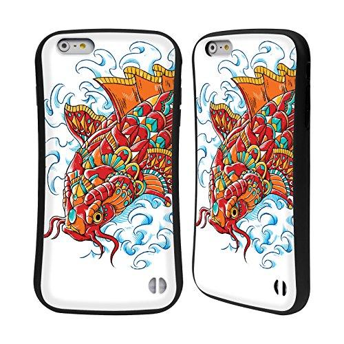 Head case designs ufficiale bioworkz tattoo koi decorato decorazioni colorate 3 case ibrida per apple iphone 6 plus/iphone 6s plus