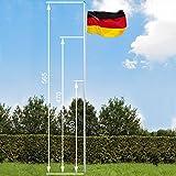 TecTake Aluminium Fahnenmast 6,25 m...
