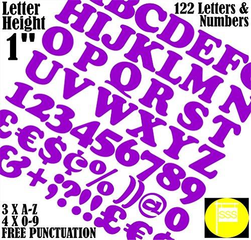 Buchstaben und Zahlen Packung von 122 Stück X 1