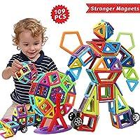 🎁Una Varietà di Forma. Offre Il Miglior Regalo per Il Tuo Bambino Questo è uno dei giocattoli architettonici per bambini più eccitanti d'oggi! Costruzione blocchi magnetici. La costruzione blocchi magnetici rendono facili da collegare dal design piat...
