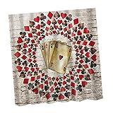 Gazechimp Rideau de Douche Motif Drole Fantastique Antimoisissure avec 12 Crochet Antirouille - Poker A