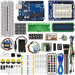 ViewTek KT0001 - Advanced Starter Kit para Arduino - con tarjeta y servomotor UNO R3 y tutoriales