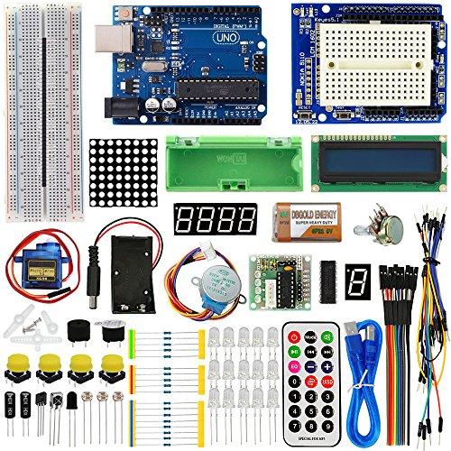 TBS2650 - Advanced Arduino Starter Kit - con scheda UNO R3 - con guida e lezioni con foto