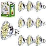 wowatt 10er 5W MR16 GU5.3 12V LED Lampe kein Strobo Neutralweiß 4500K 420Lumen ersetz für 35W Glühlampe 60 x 2835 SMDs 120º Abstrahlwinkel, AC DC 12V hohe CRI 80Ra Ø50 x 48mm