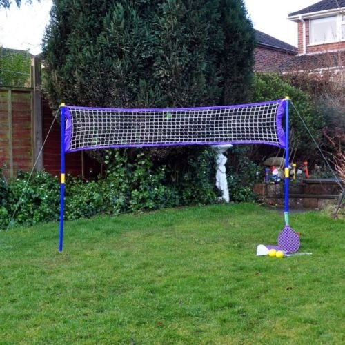 Super Garten Strand Sport Spiele Set Tennis & Badminton Netz Schläger Bälle-Ein Muss Spiel für die Schule Urlaub oder einige Classic Summer Evening Spaß im Garten.
