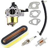 OxoxO Compatibel met Carburateur Luchtfilter Bougie Brandstoffilter Kit Compatibel met HONDA GXV120 GXV140 GXV160 Motoren HR1