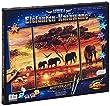 Schipper 609260455 - Malen nach Zahlen - Elefanten Karawane, 50x80 cm