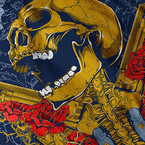 Guns Et Des roses Crâne La musique héros Women S-2XL Débardeur | Wellcoda Bleu Marine
