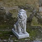 Herrlicher Löwe Torwächter Blickrichtung rechts aus Steinguss, frostfest