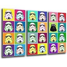 Cuadro Buda fotografico base madera, 97 x 62 cm, Ejercito Darth Vader, Star Wars ref. 26023