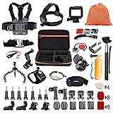 Pieviev 60-in-1 GoPro Zubehör Set für Action Cam GoPro Hero 6 5 4 3+ 3 2 1,Gopro Hero Session 5 Black AKASO EK7000 Apeman SJ4000/SJ5000/SJ5000X/SJ6 DBPOWER AKASO VicTsing Rollei