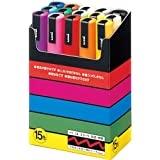 Uni Posca Paint Marker Pen - Set of 15