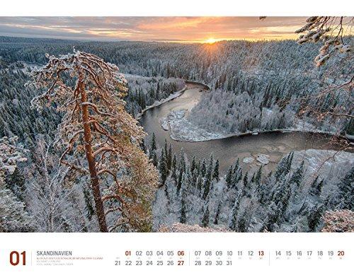 Skandinavien 2019, Wandkalender im Querformat (54x42 cm) - Reisekalender Norwegen, Schweden, Finnland, Dänemark und Island mit Monatskalendarium (Reisen mit allen Sinnen): Alle Infos bei Amazon