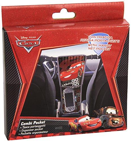 Disney Cars 25934 Rücksitz-Organizer Kombitasche, 2-Seitig - Lightning McQueen und seine Freunde, schwarz