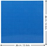 """Base Plate Board Blue 10"""" x 10"""" for Building Blocks Bricks Compatible with All Brands - Edu Toys"""
