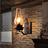 """Wandbeleuchtung """"LXD-Wall Lights"""" Wandleuchte Wandlampe Retro industrielle kreative Persönlichkeit Restaurant Bar Tisch Lampe American Schmiedeeisen Gang industrielle Wind Wandleuchte, lila"""