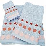 Confort Home M.T (Celeste BOLAS) Juego de toallas de baño 3 piezas (1...