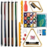 Billard - Accessoires Set ALL IN ONE -. Jeu complet comprenant 5 queues,...