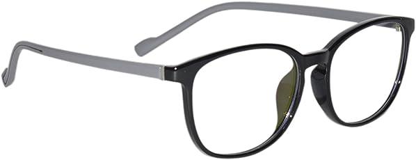 Peter Jones Black and Grey Square Unisex Optical Frame (6106GR)