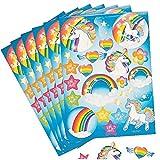 6 Bögen Einhorn Sticker Stern Mitgebsel Herz Mädchen Geburtstagstüte Regenbogen Geburtstag