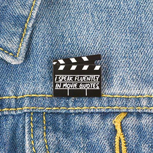 pu ran Unisex Kreative Film Acryl Schindel Emaille Brosche Reise Jeansjacke Kragen Abzeichen Einkaufen Dating Geschenk Schwarz