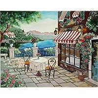 YH-Arts vista de mesa azulejos de cerámica, multicolor, 11x 14pulgadas