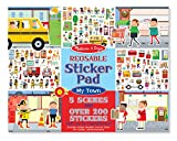 #4: Reusable Sticker Pad - My Town: Activity Books - Coloring/Painting/Stickers