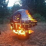 Todesstern-Feuerstelle (91,4cm Durchmesser, aus rohem Stahl)