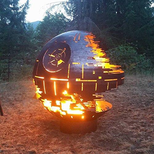 Custom entworfen Death Star Fire Pit (91,4cm Durchmesser, Stahl roh)