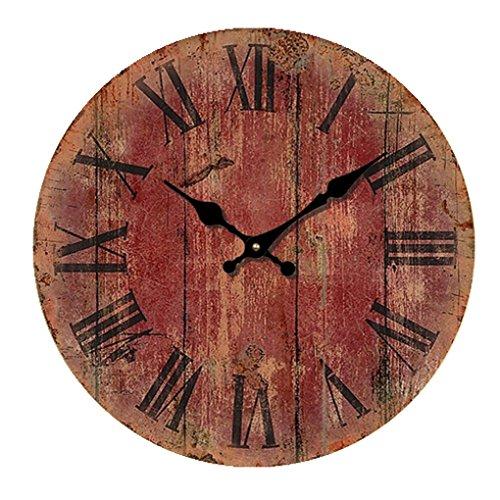 Reloj De La Nube Circular Retro Movimiento Del Sol De Barrido Reloj De Pared Silencioso E 12-Pulgada(Diš¢metro 30Cm)