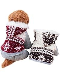 Invierno Ropa Para Perros Mascota Gato Sudaderas de Algodón Caliente (XXL, Rojo)