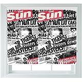Periódico impresión estilo enrollables de varios tamaños negro Out para dormitorios baños cocinas y caravanas AOA®, 4ft 122cm